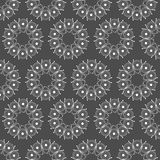 Seamless pattern on grey background Royalty Free Stock Image