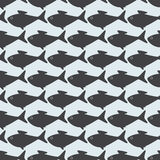 Seamless pattern with grey fishes isolated on light grey backgro Royalty Free Stock Images