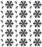 Seamless pattern the grey flower pattern for background. Vector Stock Photos