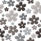 Seamless pattern with grey flowers Royalty Free Stock Image