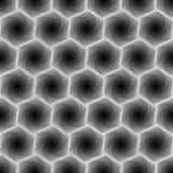 Seamless pattern with grey hexagonal forms Stock Photos