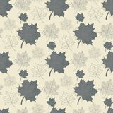 Seamless pattern with grey leaf,abstract leaf,leaf Stock Photography