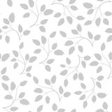 Seamless pattern with grey leaves Stock Images