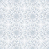 Seamless pattern with grey ornate flower chrysanthemum Stock Images