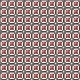 Seamless pattern with grid geometric ornament. Repeated square and stripes abstract background. Retro surface texture. Royalty Free Stock Photo