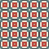 Seamless pattern with grid geometric ornament. Repeated square and stripes abstract background. Retro surface texture. Royalty Free Stock Photos