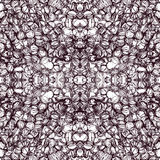 Seamless pattern with grid of grunge striped oval elements in brown and white colors Stock Photography