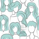 Seamless pattern group of girls stock photos