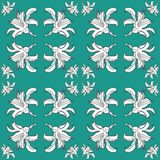 Seamless pattern with black and white lily.Vector illustration. vector illustration