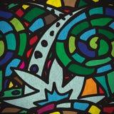 Seamless pattern with grunge cartoon urban style i Royalty Free Stock Photo