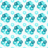 Seamless pattern with grunge circles Royalty Free Stock Image