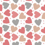 Seamless pattern with grunge colorful hearts Royalty Free Stock Image