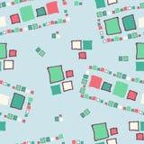 Seamless pattern grunge cubes. Seamless pattern grunge cubes vintage. Vector illustration Stock Photo