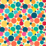 Seamless pattern with grunge dots. Stock Photo