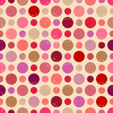 Seamless pattern with grunge dots. Royalty Free Stock Image