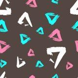 Seamless pattern grunge geometry. Stock Photography