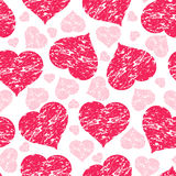 Seamless pattern with grunge hearts Stock Photography