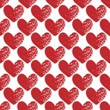 Eamless pattern with grunge hearts. Seamless pattern with grunge hearts. design for Valentine`s Day Stock Photo