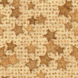 Seamless pattern grunge stars Royalty Free Stock Photo