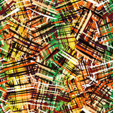 Seamless pattern with grunge striped chaotic square colorful elements stock illustration