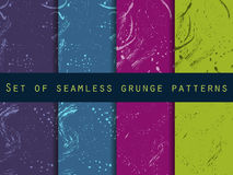 Seamless pattern in grunge style with clots and strokes. Set. Stock Photography