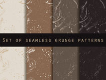 Seamless pattern in grunge style. Coffee color. Set. For wallpaper, bed linen, tiles, fabrics, backgrounds. Vector texture Royalty Free Stock Photography