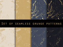 Seamless pattern in grunge style. Golden splashes. Stock Images