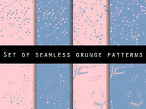 Seamless pattern in grunge style. Rose quartz and serenity violet colors. Vector illustration. Royalty Free Stock Photography