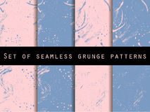 Seamless pattern in grunge style. Rose quartz and serenity violet colors. For wallpaper, bed linen, tiles, fabrics, backgrounds Royalty Free Stock Photography