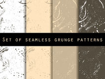 Seamless pattern in grunge style. Seamless pattern with blots and strokes. Set. Vector texture. Royalty Free Stock Photo