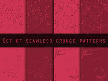 Seamless pattern in grunge style. Seamless pattern with blots and strokes. Stock Photo