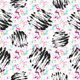 Seamless pattern with grunge textures. Hand drawn fashion hipster background. stock illustration