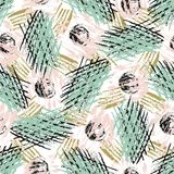 Seamless pattern with grunge textures. Modern fashion hipster background. Vector for print, fabric, textile, wrapping Royalty Free Stock Photo