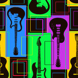 Seamless pattern of guitars Royalty Free Stock Photos