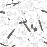 Seamless pattern with guitars Stock Photos