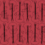Seamless pattern of guitars Royalty Free Stock Photography