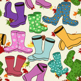Seamless pattern of gumboots Royalty Free Stock Images