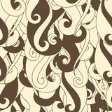 Seamless pattern hair curls and waves Stock Image