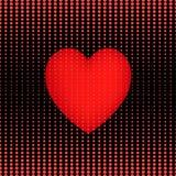 Seamless pattern halftone heart. Stock Photo