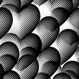 Seamless pattern with halftone hearts. Stock Images