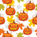 Seamless pattern of Halloween Stock Images