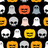 Seamless pattern for Halloween. Background of the symbols of the Royalty Free Stock Image