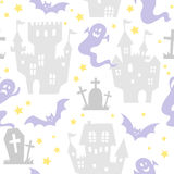 Seamless pattern of halloween. Seamless pattern of cute halloween motiefs royalty free illustration
