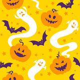 Seamless pattern of halloween. Seamless pattern of cute halloween motiefs vector illustration
