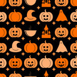 Seamless pattern for Halloween Royalty Free Stock Photos