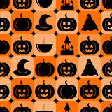 Seamless pattern for Halloween Stock Photo