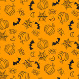 Seamless pattern with halloween equipment Stock Photo