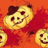 Seamless pattern, Halloween pumpkin Royalty Free Stock Photos