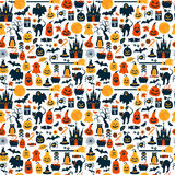 Seamless pattern of halloween Royalty Free Stock Photo