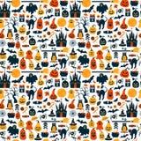 Seamless pattern of halloween Royalty Free Stock Photo
